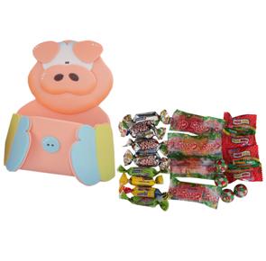 Carga dulces en forma de cerdo