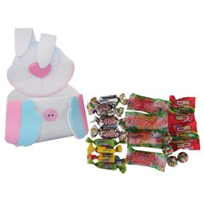 Carga dulces en forma de conejo