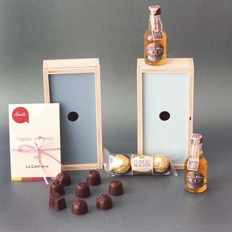 Mini chivas y chocolates